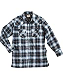 quilted denim shirt - ELY CATTLEMAN Men's Blue Quilted Flannel Shirt Jacket Tall Blue Large Tall