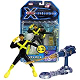 Marvel Year 2001 X-Men Evolution 6 Inch Tall Figure - Cyclops with Op-Tech Training Module and Triple X-Treme Action (Lights-Up, Explodes and Shoots)