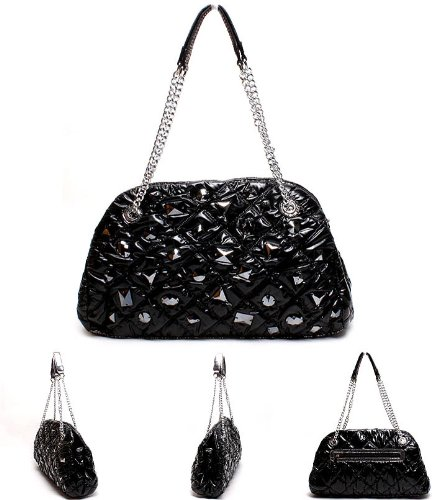 Jersey Shoulder Handbag - 7