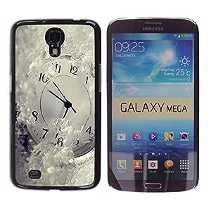 TopCaseStore / la caja del caucho duro de la cubierta de protección de la piel - Time Metaphor Winter Snow White Ticking - Samsung Galaxy Mega 6.3 I9200 SGH-i527