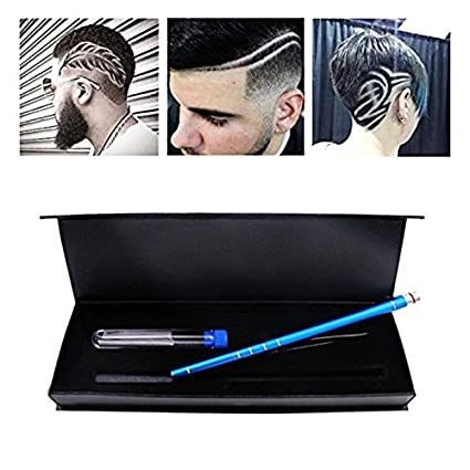 Ocamo Portable Hair Engraving Pen Set Professional Hair Tattoo Trimming Tool Hair Design Razor pen blue