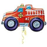 """Fire Truck Jumbo 33"""" Foil Balloon"""