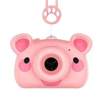 Cámara Infantil Niño Mini Cámara Cámara de Video Regalo Niña Niño Juguete Carcasa de Silicona para niños niños niñas (Color : Pink, Size : 16G): Hogar