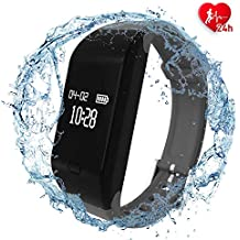 fitpolo Health Fitness Tracker HR - Heart Rate Monitor Smart Watch, IP67 Waterproof Activity Tracker with Sleep Monitor, Step Counter, Calorie Counter, Pedometer for Kids Women Men Gifts