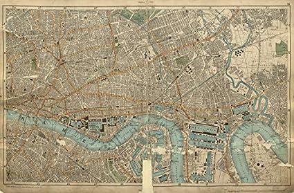 Cartina Geografica Di Londra Da Stampare.London City East End Southwark Bethnal Green Shoreditch Docks Bacon 1900 Old Antique Mappa Vintage Mappe Stampate Di Londra Amazon It Casa E Cucina