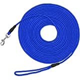 Vcalabashor Long Dog Puppy Obedience Recall Training Agility Rope Leash/Small Dog Check Cord/Young Dog Tracking Leads/Highly Visible and Floats/Blue - 20ft