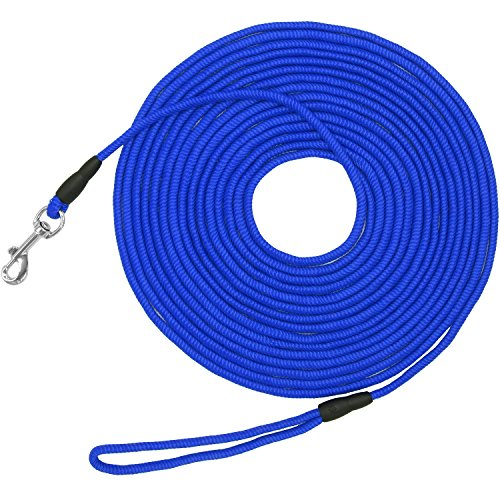 Lead Dog Light - Vcalabashor Long Dog Puppy Obedience Recall Training Agility Rope Leash/Small Dog Check Cord/Young Dog Tracking Leads/Highly Visible and Floats/Blue - 20ft