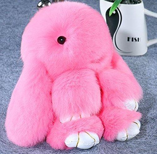 - 1 Pc Mini Pocket Pink Fluffy Rabbit Keychain Keyring Keyfob Bunny Fur Pom Plush Ornament Pendant Keys Chains Rings Tags Strap Wrist Wonderful Popular Cute Wristlet Utility Keyrings Tool, Type-08