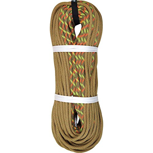 BlueWater Ropes 10.1mm Neon Double Dry Dynamic Single Rope (Bi-Pattern Coyote Brown, 70M)