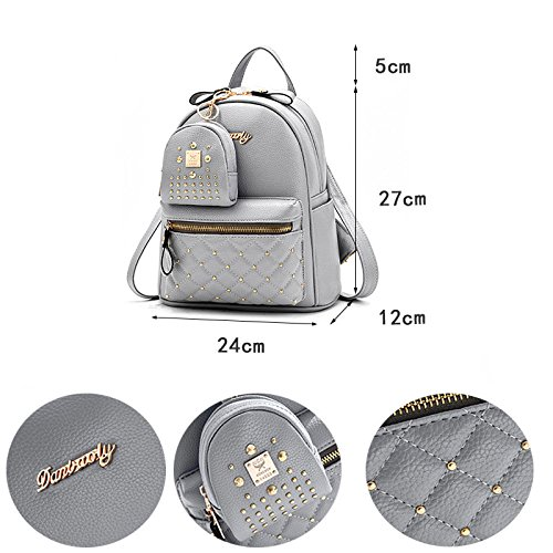 Flower School Small Col8 Leather Donalworld Print Casual White Girl Backpacks Bags PU Women xZ6qSfnZ