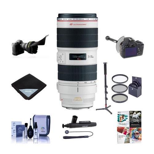 Canon EF 70 – 200 mm f / 2.8l is II USMレンズバンドル。USA。値キットwith acc # 751b002   B073J3WRS8