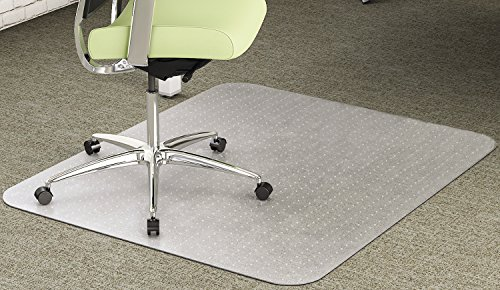 deflecto CM1K442FPET EnvironMat Recycled Anytime Use Chair Mat for Med Pile Carpet 46 x 60 Clear by Deflecto