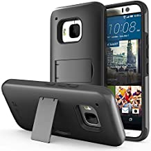 Vena HTC One M9 Legacy Case [Dual Layer Protection][Shock Absorption] Heavy Duty Hybrid Case with Kickstand + 1 PREMIUM (HD CLEAR) Screen Protector for 2015 HTC One (M9) Hima (Black)