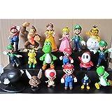 "Oliasports Super Mario Brothers Action Figures Set (18 Piece), 2"""