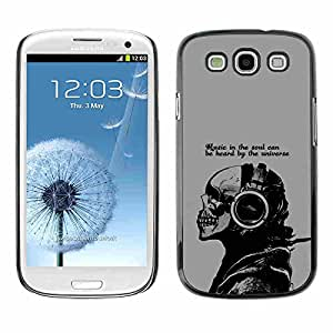 Shell-Star ( Cool Music In The Soul Message ) Fundas Cover Cubre Hard Case Cover para Samsung Galaxy S3 III / i9300 i717