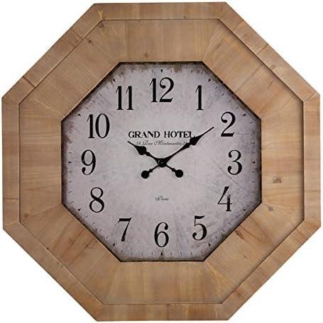 Oak Furniture Land Grand Hotel Wall Clock Amazon Co Uk Kitchen Home