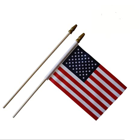 a04b1cbc723d Amazon.com   Afoxsos USA Stick Flag - 12 PCS Pack American 4 x 6 inches Mini  Handheld Flags For 4th Of July Independence Day Celebration   Garden    Outdoor