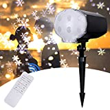 Snowfall LED Lights Christmas Projector - LED Projector Lights, Snowflake Projector with Remote Control for Holiday, Outdoor, House, Garden, Wall Decoration