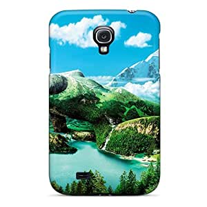 Premium Tpu 3d Earth Girl Covers Skin For Galaxy S4