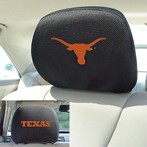 FANMATS  12599  NCAA University of Texas Longhorns Polyester Head Rest Cover