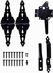 Home Master Hardware Wood Gate Hardware Set - Heavy Duty 8