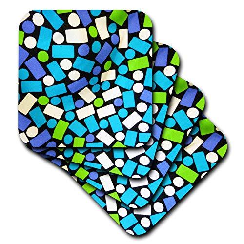 3dRose Florene Digital Contemporary - Dashes n Dots - Coasters ()