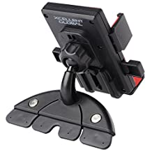 Xcellent Global Universal Smartphone Car CD Slot Mount Holder Cradle Stand for iPhone 6/6+ Samsung Galaxy S5/S4/S3 Note 2/3/4 (holds mobile devices without case from 60mm to 90mm wide) M-CA011