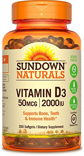 Sundown Naturals Vitamin D3 2000 IU, 350 Softgels