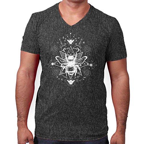 Brisco Brands Spirit Animal Bee Shirt | honeybee Garden Celestial Cool Gift V-Neck (Bee Fitted T-shirt)