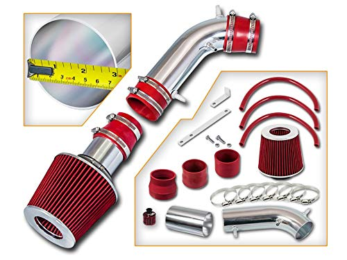 Rtunes Racing Short Ram Air Intake Kit + Filter Combo RED Compatible For 96-98 Toyota 4Runner 3.4L / 95-98 Toyota T100 / Toyota Tacoma 3.4L