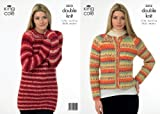 King Cole Ladies Double Knitting Pattern Womens DK Knitted Sweater & Jacket 3312 by King Cole