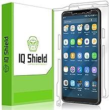 Samsung Galaxy A8+ Screen Protector, IQ Shield LiQuidSkin Full Body Skin + Full Coverage Screen Protector for Samsung Galaxy A8+ (2018) HD Clear Anti-Bubble Film