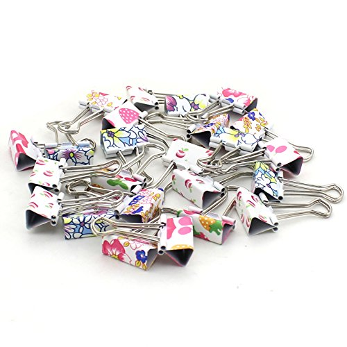 Zicome Colorful Printed Binder Clips