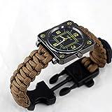 Outdoor Life Watch Multifunction Bracelet Watch Compass Flint Watch (Style : A)