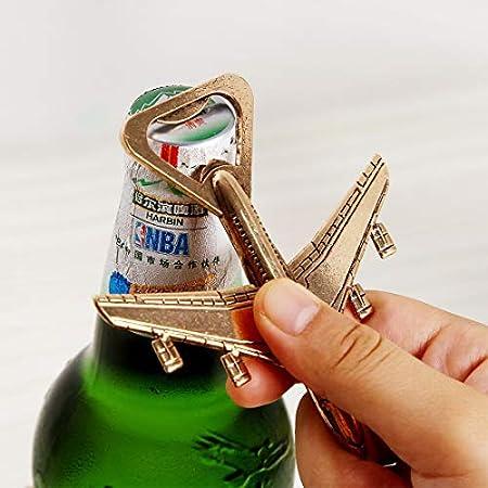 Sacacorchos Botella CCI 2 PCS aleación plano de diseño de cerveza abridor mejor regalo de boda y favores de partido herramientas de cocina