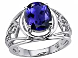 Oval 10x8 mm Genuine Large Iolite Ring 14kt Size 4.5