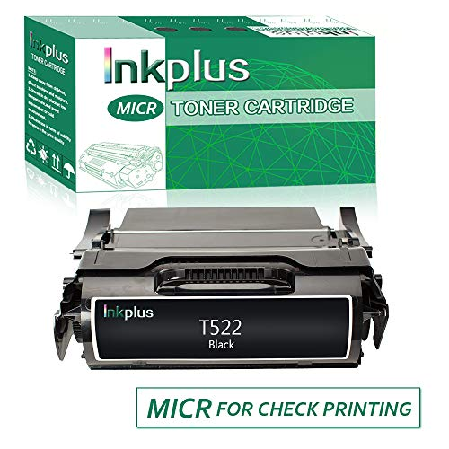 InkPlus T522 Series MICR Check Printing Toner Cartridge Compatible for Lexmark Optra T522, X522 Printers,(20,000 Page-Yield, Black)
