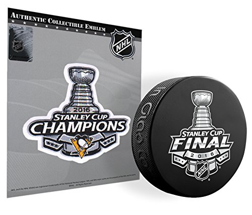 2016 NHL Stanley Cup Champions Pittsburgh Penguins Patch & 2016 SC Puck Combo