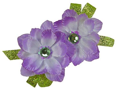 Tinkerbell Inspired Sparkling Glitter Flower Hair Clip (Alligator Clip) -