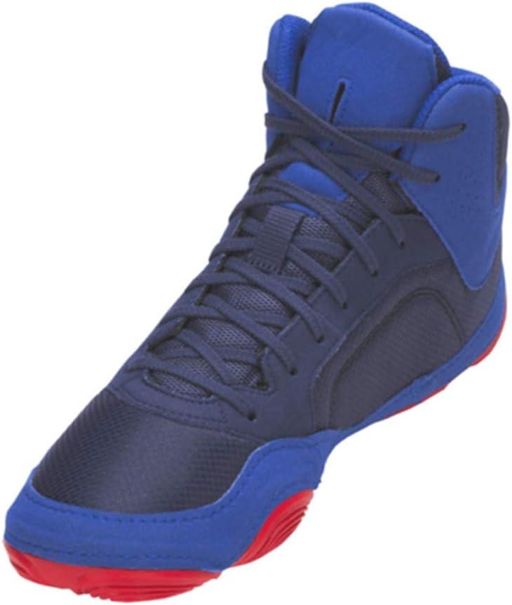 ,36 AIALTS Les Hommes Et Les Femmes Lutte Chaussures De Formation Tendon Bottom Chaussures Combat De Boxe Chaussures Bleu