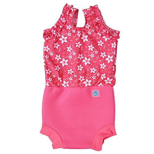 Top Swimming Costumes 2016 (Splash About Happy Nappy Costume (Neoprene Swim Nappy) (Pattern Pink Blossom, X Large (12-24 months)))