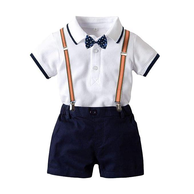 Conjunto de Traje de Niño Infantil 2pcs Ropa de Boda de Bebé ...