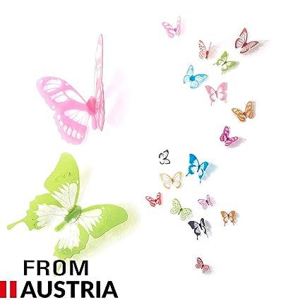 Papillons 3d Multicolores Decoration Murale Sticker Mural Avec