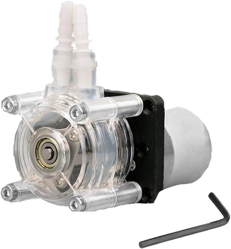 Joyoya DC 12V Peristaltic Liquid Pump with Silicone Tubing High Flow Self-Priming Dosing Vacuum Pump Anti-Corrosion Adjustable Flow Direction Pump for DIY Aquarium Lab Chemical Analysis