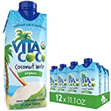 #1: Vita Coco Organic Coconut Water, Pure - Naturally Hydrating Electrolyte Drink - Smart Alternative to Coffee, Soda, and Sports Drinks - Gluten Free - 11.1 Ounce (Pack of 12)