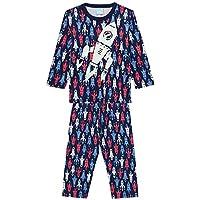 Pijama Infantil menino manga longa verde no espaço