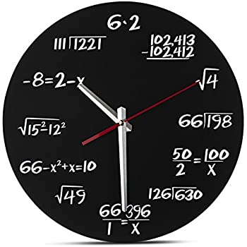 Decodyne Math Wall Clock   Unique Wall Clock   Each Hour Marked By A Simple  Math Equation