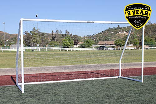 G3ELITE Pro 12x6 Youth Regulation Soccer Goal, (1) 3.5mm Net, Strongest Portable 2