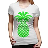 Women's Summer Fashion Pineapple Casual Floral Print Cute Contracted Tops Short Sleeve Tee