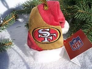 "Amazon.com : SF 49ers NFL 4"" Mini Santa Hat Christmas Tree"